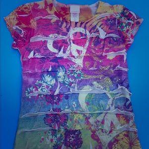 🌷Girls Colorful Ruffled T-Shirt